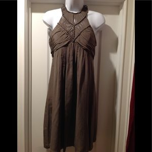 ✨New Item, Olive Green Silk Halter Dress 👗